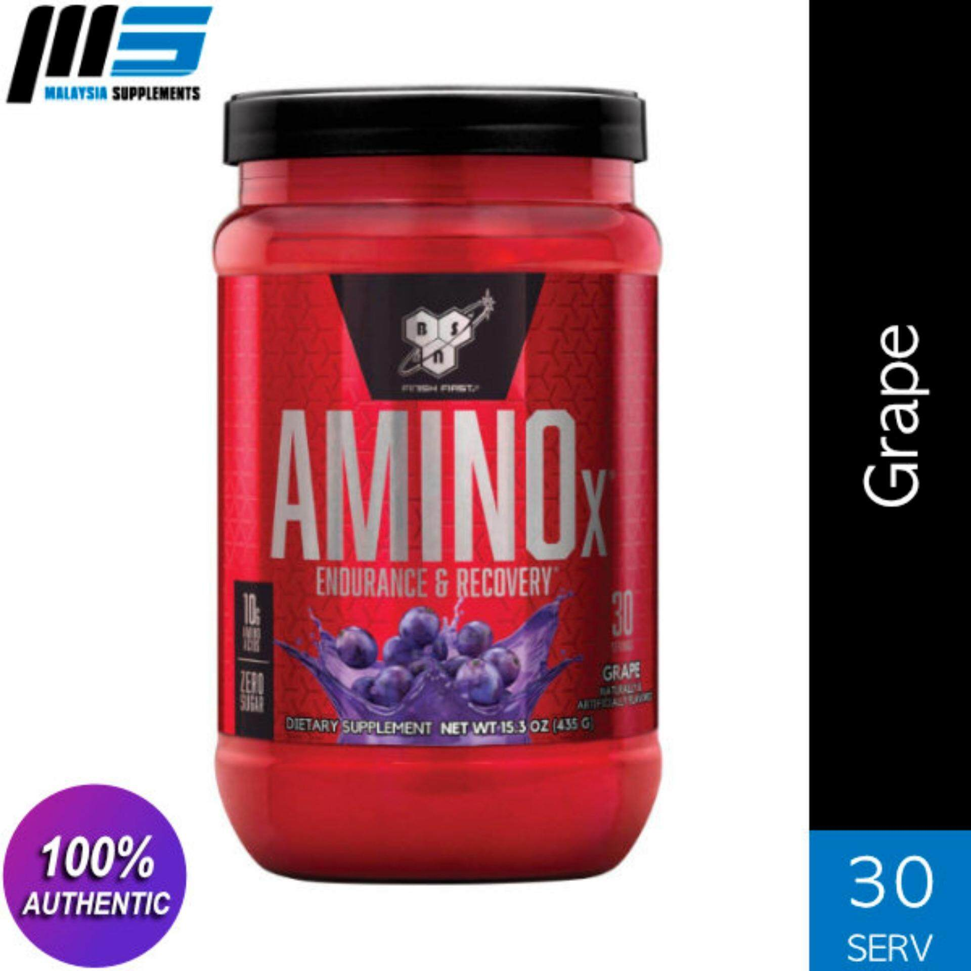 Bsn Amino X, Grape, 30 Servings By Malaysia Supplements.