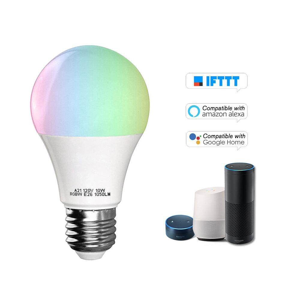 V5 Smart WIFI LE-D Bulb RGB+W LE-D Bulb 11W E26 Dimmable Light Phone Remote Control Group Control Compatible with Alexa Goog-le Home Tmall Genie Voice Control Light Bulb