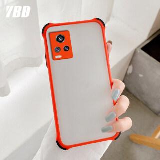 YBD 4-Góc Bumper Trường Hợp Chống Sốc Cho Vivo V20 Vỏ Chính Xác Máy Ảnh Bảo Vệ Trường Hợp Điện Thoại Cứng Matte Cover Quay Lại thumbnail