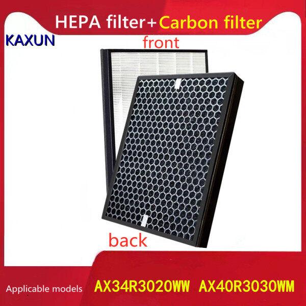 Bảng giá Máy lọc không khí Samsung tương thích AX34R3020WW AX40R3030WM Bộ lọc hỗn hợp than hoạt tính HEPA để loại bỏ khói bụi PM2.5, bụi, formaldehyde và mùi Phụ kiện thay thế