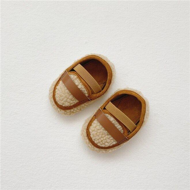 Giày Thể Thao Giày Em Bé Thời Trang Cho Trẻ Sơ Sinh, Giày Nôi Cho Trẻ Sơ Sinh, Giày Đi Bé Trai Bé Gái Ấm Chống Trượt Cho Mùa Đông, Chất Liệu Cotton Mềm Mại, Ấm Áp giá rẻ