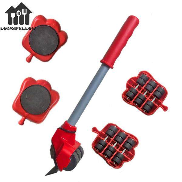 Cat Claw Shaped Heavy Furniture Lifter Mover 5Pcs/set Transport Lift Move Slide Trolley with Pry Bar