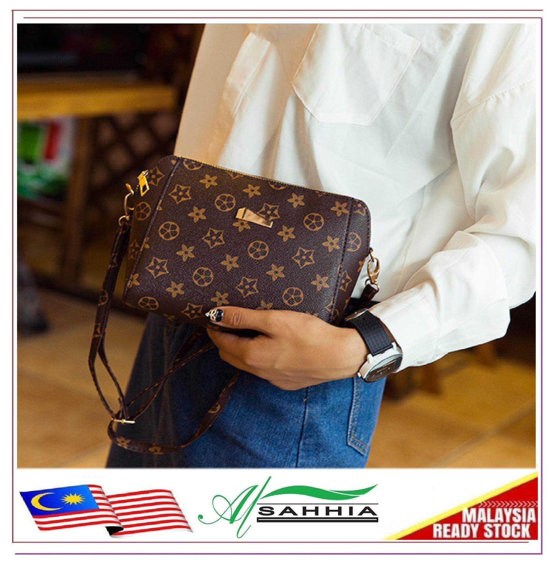 add6e32876c5 Al Sahhia Ready Stock Korean Long Star Brown Sling Shoulder Women Bags