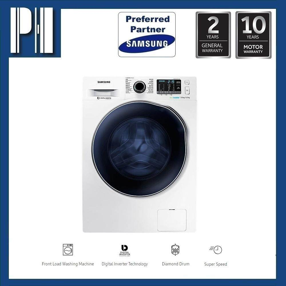 Samsung Wd70j5410aw/sp 7kg/5kg Inverter Front Load Combo Washer Dryer By Ph Chain Store.