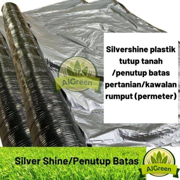 (Meter) Silvershine plastik tutup tanah /plastik tutup batas pertanian/kawalan rumput/fertigasi
