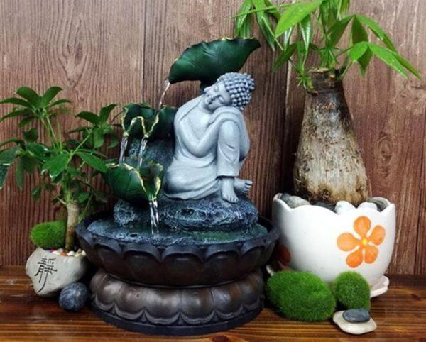 Sleeping Buddha Statue Water Fountain Decoration