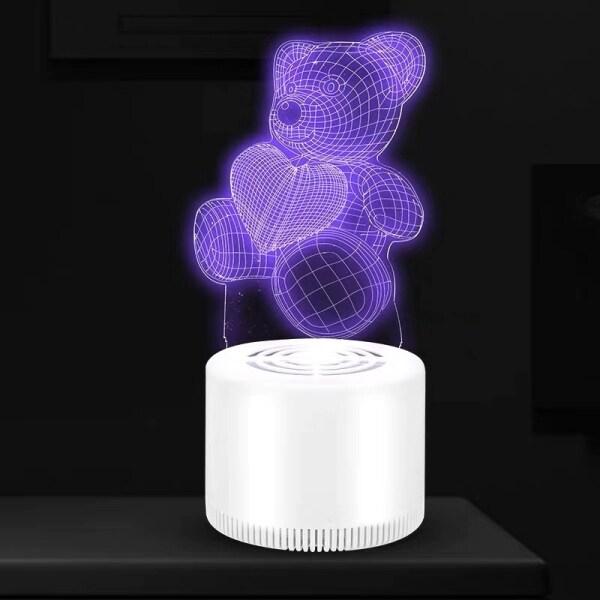 Bảng giá 【CJY】 Trang Sức 3D Không Tiếng Ồn Đèn Chống Muỗi Trong Nhà Đèn Diệt Muỗi Loại Hút Bẫy Muỗi Quang Xúc Tác