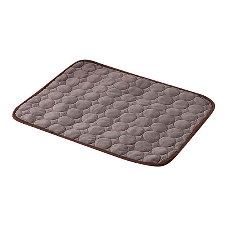 62X50 Cm Thảm Làm Mát Thú Cưng Mùa Hè Sợi Lụa Băng Vải Pad Đệm Màu Nâu