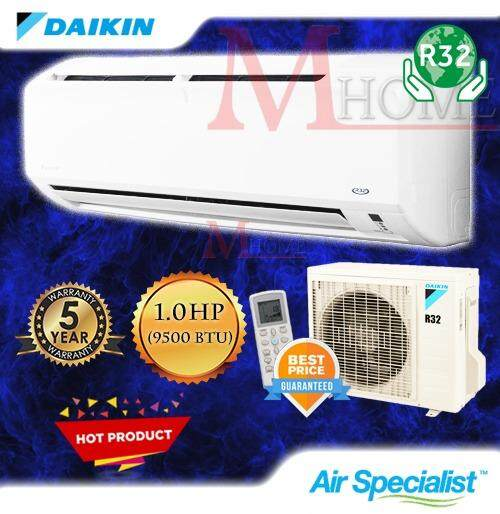 (NEW) DAIKIN 1.0HP / 1.5HP R32 AIR CONDITIONERS FTV-P SERIES Aircond [PWP With Professional AC Specialist Installation]