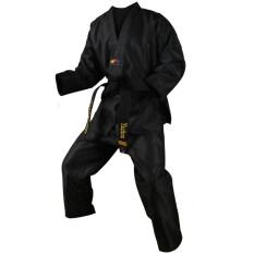 Võ Phục Taekwondo Đen Dobok Dành Cho Người Lớn Trẻ Em Nam Nữ Taekwondo Dobok Bộ Đồ Cotton Bộ Đồng Phục Jodo Quần Áo Taekwondo KWON Do