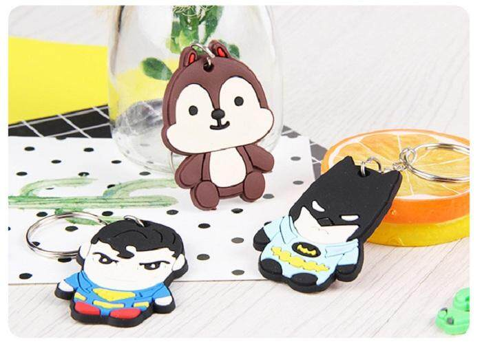 [randomly send (only one)] PVC cartoon creative key ring silicone car key small pendant small gift giveaway wholesale