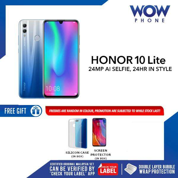 HONOR 10 LITE (3GB RAM / 32GB ROM) MALAYSIA SET!! 1 YEAR WARRANTY BY HONOR  MALAYSIA!! EXCLUSIVE FREEBIES ONLY ON WOWPHONE!!