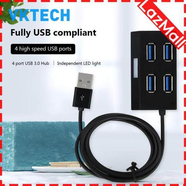 [Vktech] Portable 4 Port Mini USB 3.0 HUB Splitter Adapter External USB Extension Converter Cable for PC Laptop Desktop