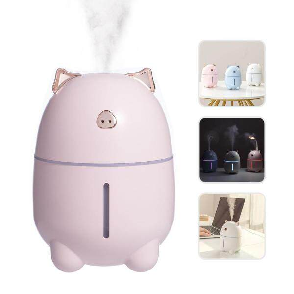 leegoal USB Cute Mini Cute Pig Humidifier Creative Night Light Office Desktop Humidifier Singapore