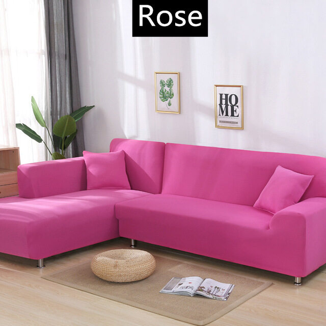 Pure Color Lounge Couch Stretch Slipcover Sofa Full Cover For 1//2//3//4 Seater Hot