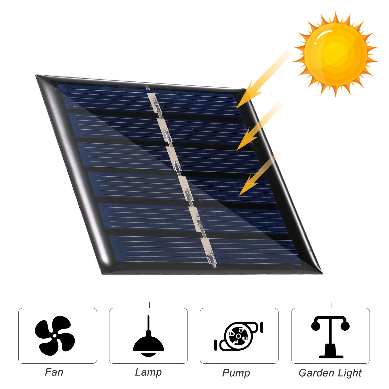 0.3W 3V Mini Solar Panel Surya Polycrystalline Silicon Kecil Solar Cell DIY Tahan Air Camping Portable Power Panel Tenaga Surya/Solar Panel Yang Kompatibel untuk Mainan Lampu Lampu Fan Pompa Kebun