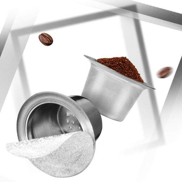 Tamper Stainless Steel Refillable Nespresso Coffee Capsule Reusable Nespresso Machine Espresso Coffee Maker Cup Filter
