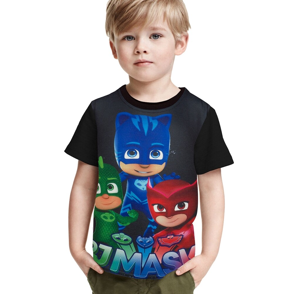 ☀️special Discount☀️pj Mask T-Shirt Boy Summer Short Sleeve Cartoon T-Shirt Clothes.