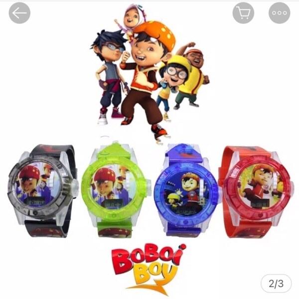 Boboiboy Petir⚡️Watch Jam Tangan Berlampu Muzik Music Frozen 🌷🌷 Malaysia
