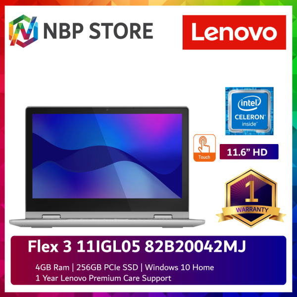 Lenovo Flex 3 11IGL05 82B20042MJ 11.6 Touch Laptop Platinum Grey ( Celeron N4020, 4GB, 256GB SSD, Intel, W10 ) Malaysia
