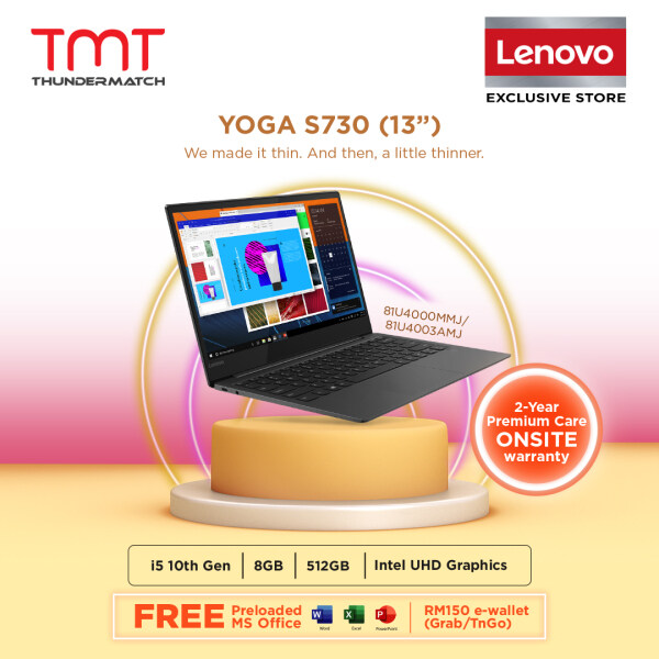 Lenovo Yoga S730-13IML 81U4000MMJ Grey Laptop ( I5-10210U, 8GB, 512GB, Intel, 13.3, OPI Home and Student ) Malaysia