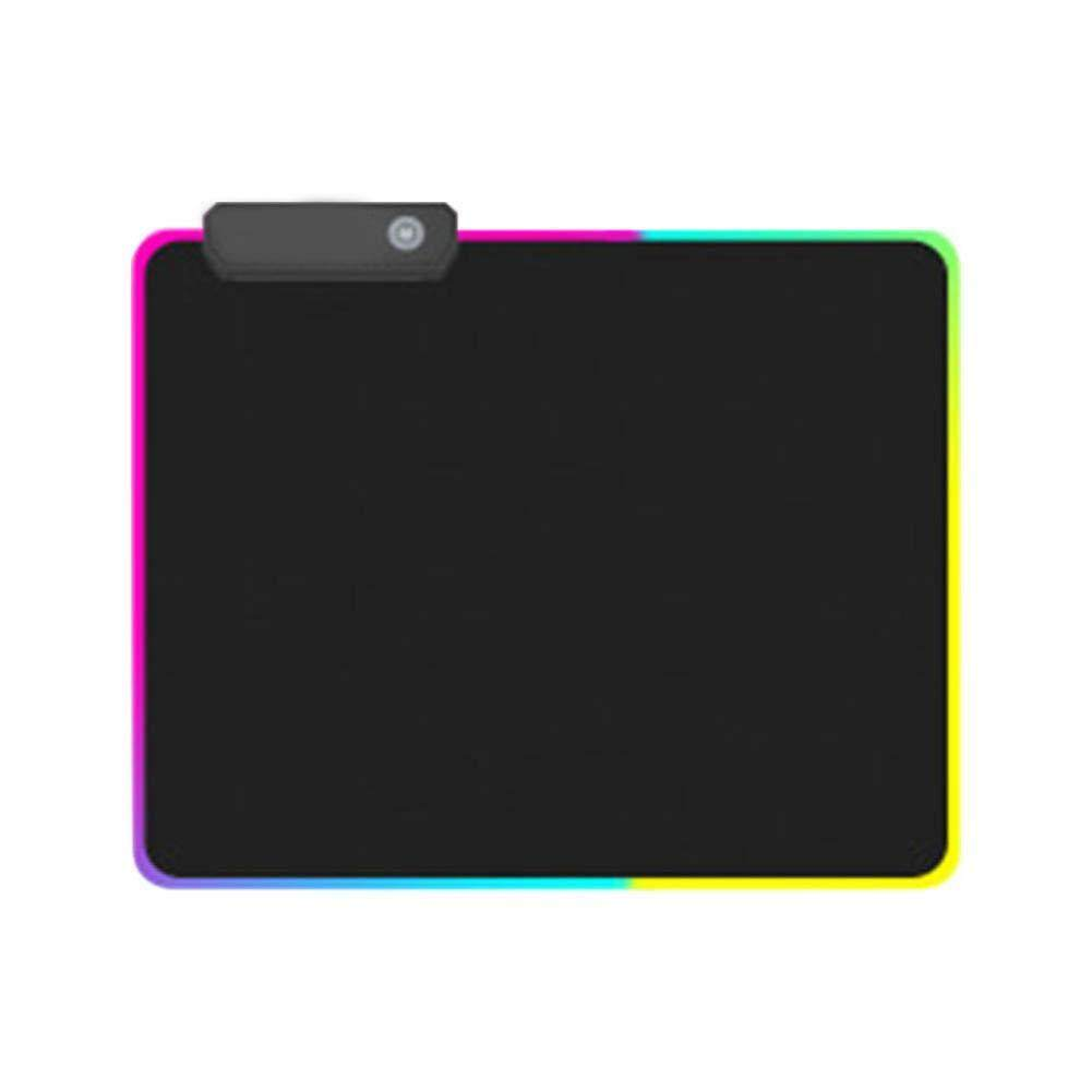 RGB Mouse Pad, Led Gaming Mouse Pad, Super Glow Fiber Around, 9 Lighting Modes, Non-Slip Rubber Base Computer Mousepad Mat Malaysia