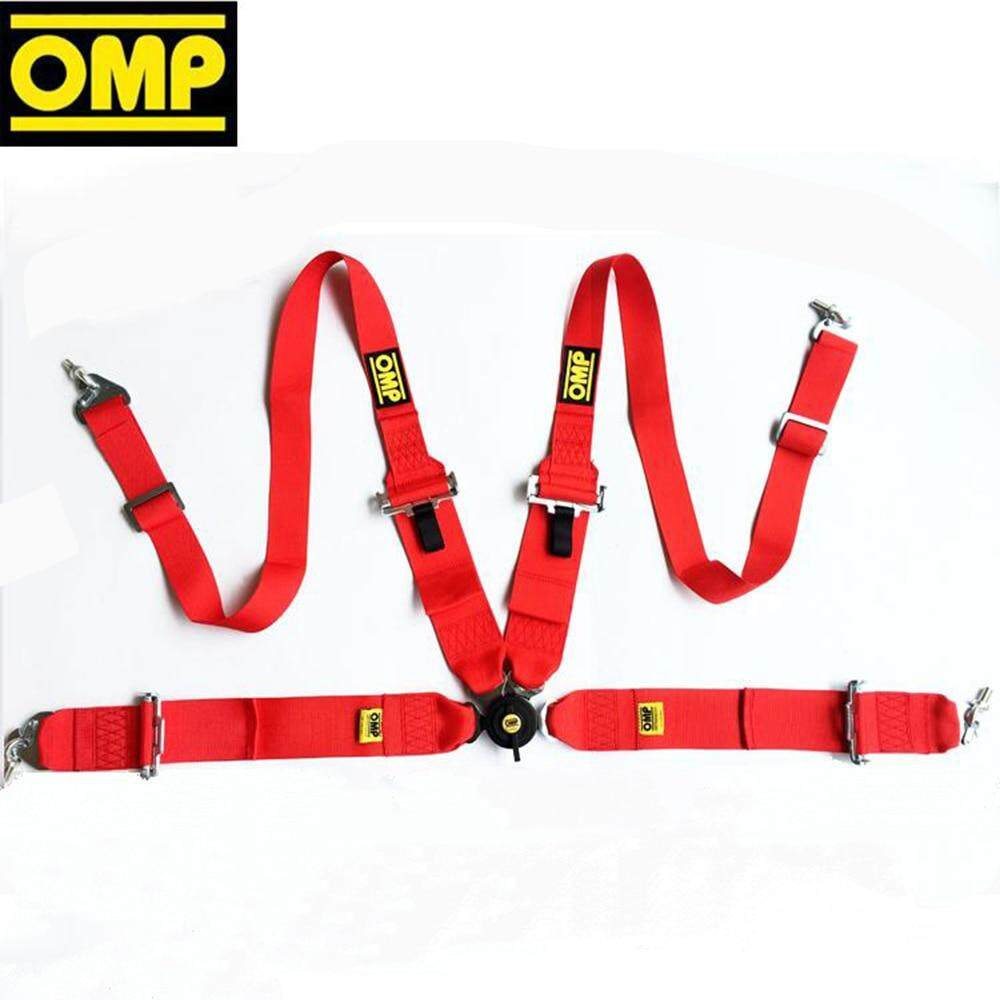 Red Racing Seat Belt 4 Point Harness