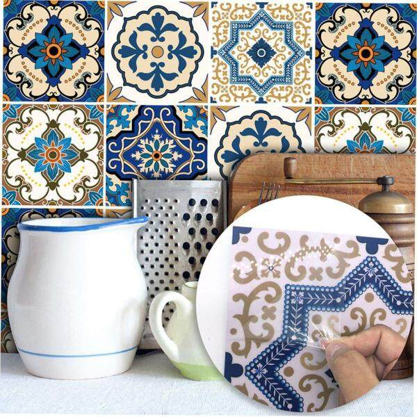 Hot Sellers 10Pcs Bedroom Living Room Kitchen Restaurant Moroccan Style Tile Stickers New Wall Stickers