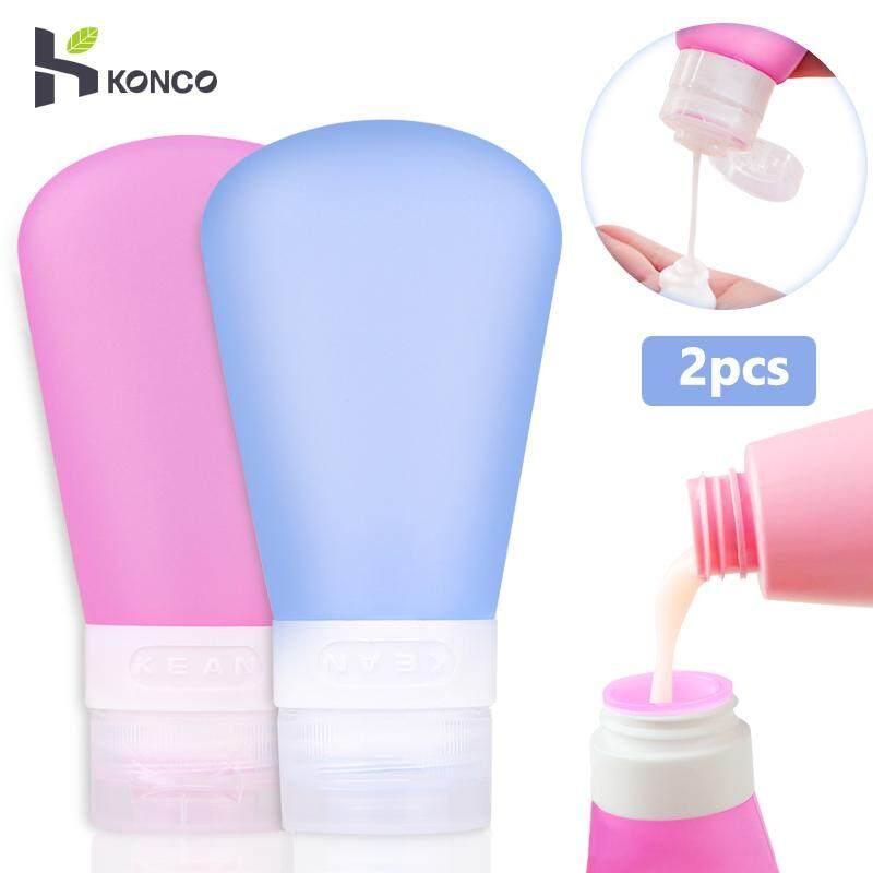 1ffd31b8af38 KONCO 2Pcs Bathroom Tools Silicone Portable Travel Equipment Leak-proof  Empty Bottles for Body Cream Shampoo Lotion Anti-break