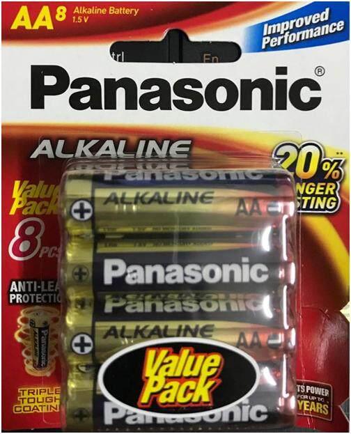 Panasonic Alkaline Battery AA alkaline ( 8 pcs per pack) LR6T 8B Malaysia