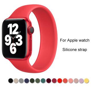 Dây Đàn Hồi Silicon Cho Apple Watch , 40 Mm 44 Mm 38 Mm 42 Mm SE 6 5 4 3 2 1 thumbnail