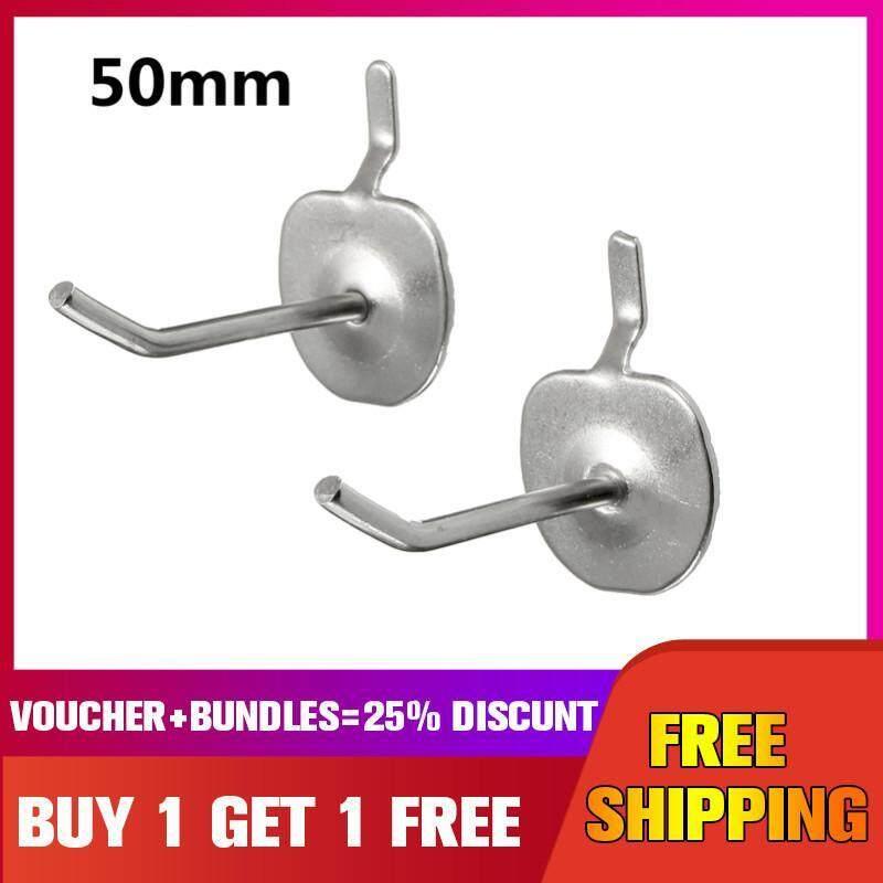 Slotted Storage Panel Pegboard Hook Assortment Strong Steel Hanger 50mm [Buy 1 Get 1 Free]