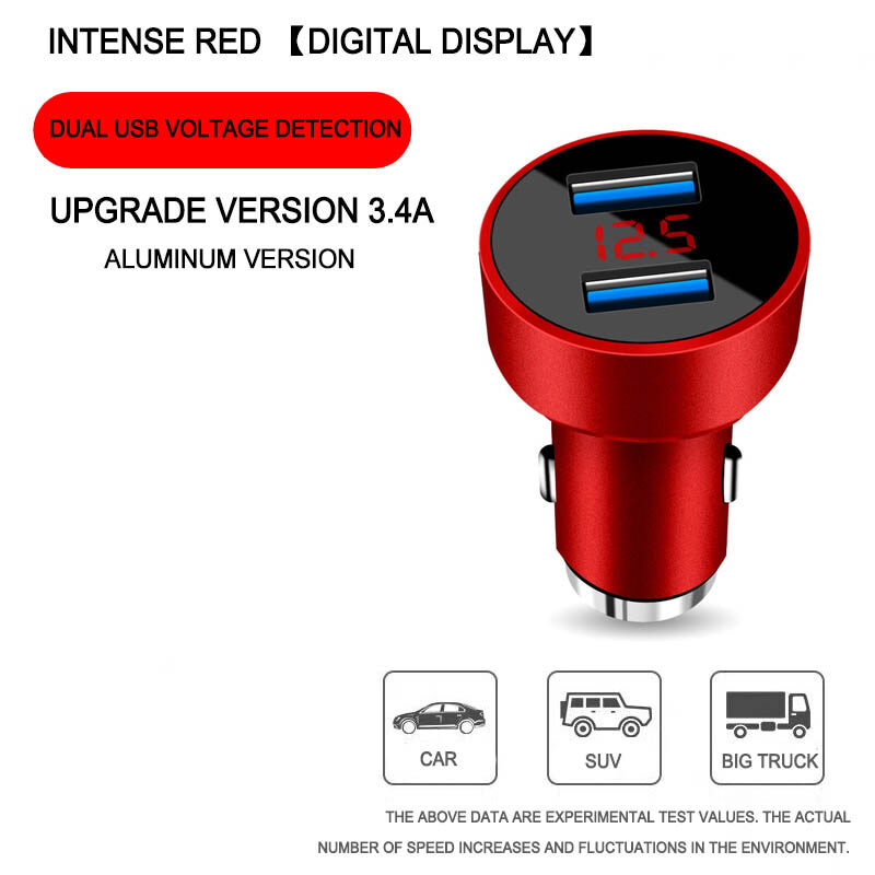 Dual USB Car Charger Fast Charge 120W Four in One USB Charger