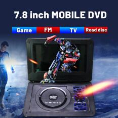 Đầu Phát DVD CD HD 7 Inch Di Động, Đầu Đọc Thẻ SD/USB Có Thể Sạc Lại Màn Hình Xoay Cho Xe Hơi