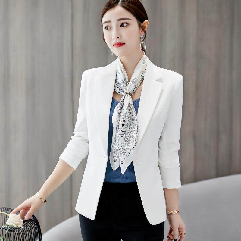 bba747231 Fashion Women Long Sleeve Suit Blazers Coats OL Business Formal Blazer Slim  for Office Ladies Spring