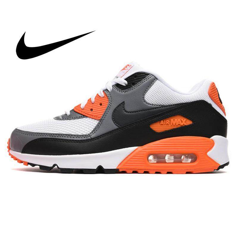 Original Authentic NIKE A I R MAX 90 ESSENTIAL Men's Running Shoes Classic Sports Outdoor Sneakers Durable Fashion Designer Lightweight Breathable