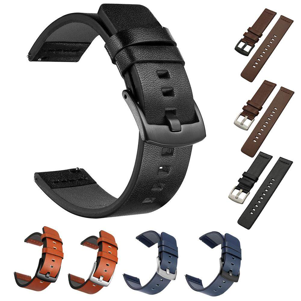 18 20 22 24mm Genuine Leather Watch Band Quick Release Mens Womens Watch Belt Strap Cow Leather Malaysia
