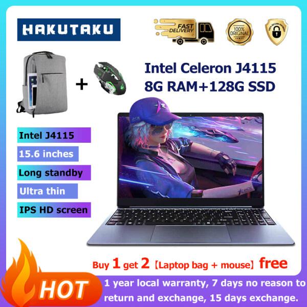 [3 years warranty]Notebook 15.6 inch IPS/Intel J4115 2.6GHz/8G RAM /128G SSD Backlit Keyboard office Laptop Computer Backlit Keyboard Dual wifi win10 pro 1year warranty Malaysia