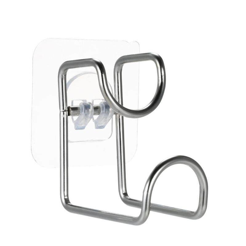 Stainless Steel Strong Adhesive Hooks Waterproof Wall Hook Superglue Washbasin Holder Basin Hanger Sticky Hooks Wall Adhesive Hook with Stickers for Kitchen Vegetable Basin Bathroom Wash Basin Wash Foot Basin