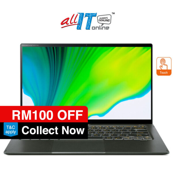 Acer Swift 5 SF514-55TA-79W5 14 FHD Touch Laptop Mist Green ( I7-1165G7, 16GB, 512GB SSD, Iris Xe, W10, H&S ) Malaysia
