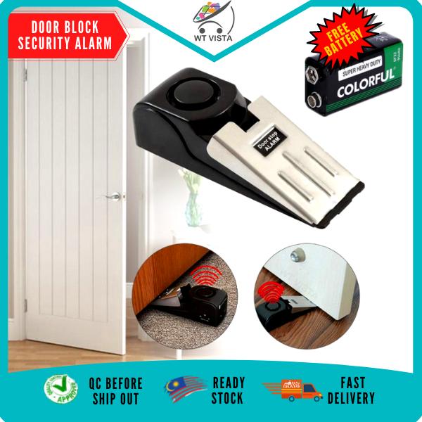 [ FREE 9V Battery ] Door Stop Security Alarm Door Stopper Block 120dB Anti-theft Under Door Security Alarm WT Vista