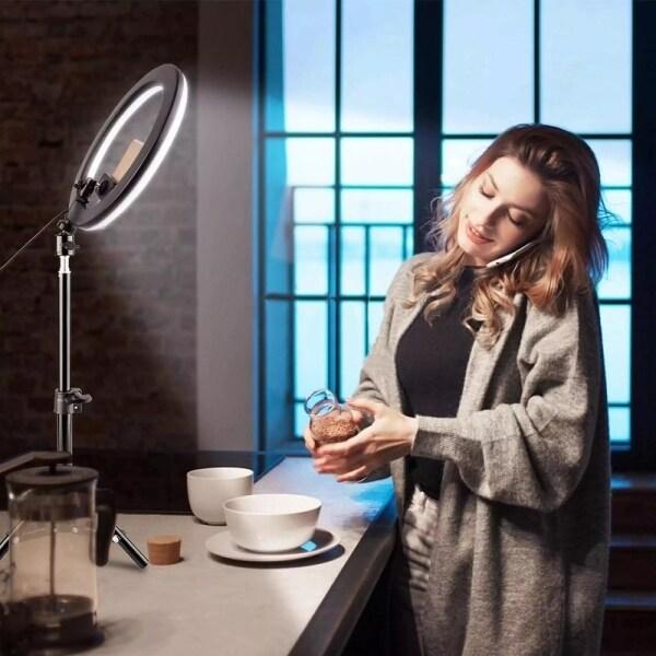 Giá Đỡ Đèn LED Trực Tiếp, Lưới Lấp Đầy Ánh Sáng Làm Đẹp Selfie, Đèn Neo Giá Ba Chân Cho Người Nổi Tiếng Vòng Chụp Ảnh