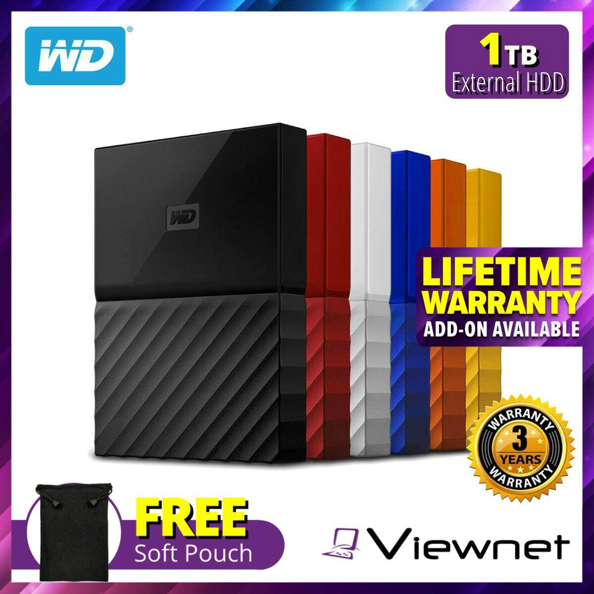 WD Western Digital 1TB My Passport USB 3 0 Portable Hard Drive with Auto  Backup, Password Protection with Hardware Encryption & WD Discovery Software