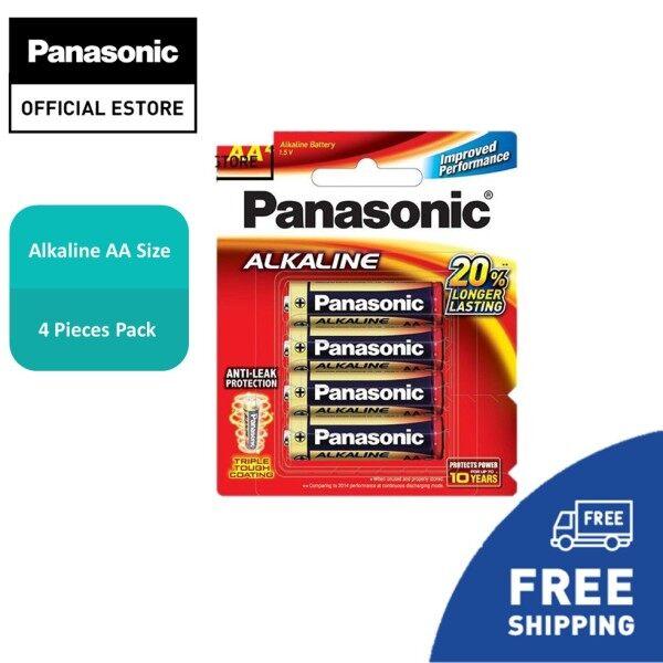 Panasonic LR6T/4B-EC Alkaline Battery (AA Size) 4Pcs [Bateri Alkali AA] Remote control, Clock, Game/Aircon Remote, Torch Light