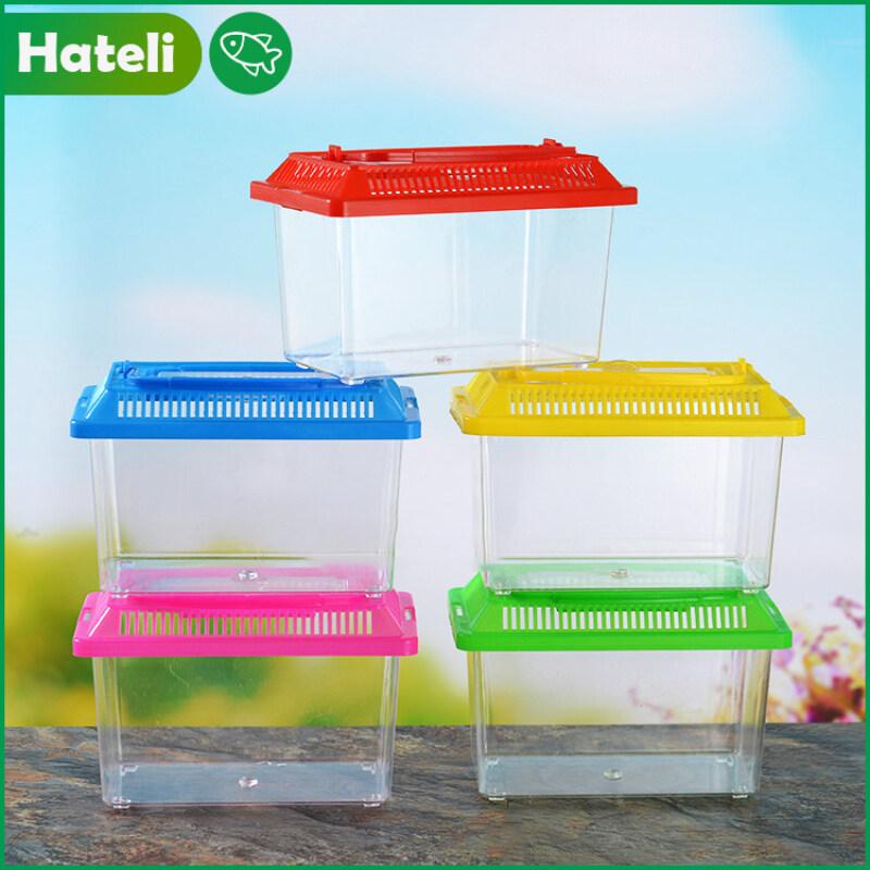 【Hateli】 Bể Nước Nhựa Nhỏ Hồ Cá 13Cm X 9Cm X 9Cm [Màu Ngẫu Nhiên]