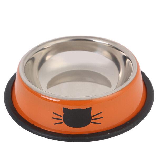 1 Cái Bát Cho Mèo Tại Nhà Màu Xám Chó Mèo Thép Không Gỉ