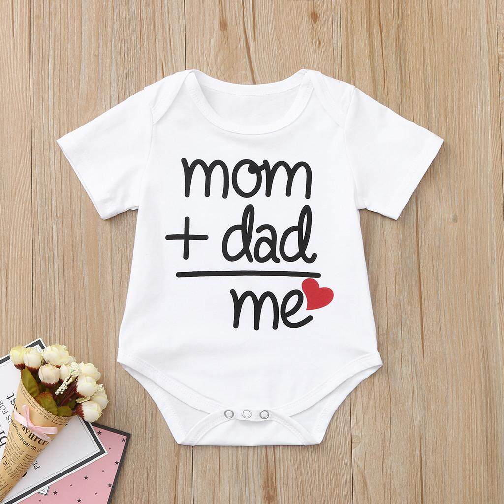 a31af4fbf Babysmikee Toddler Newborn Baby Girls Boys Letter Printed Tops Bodysuit Romper  Clothes