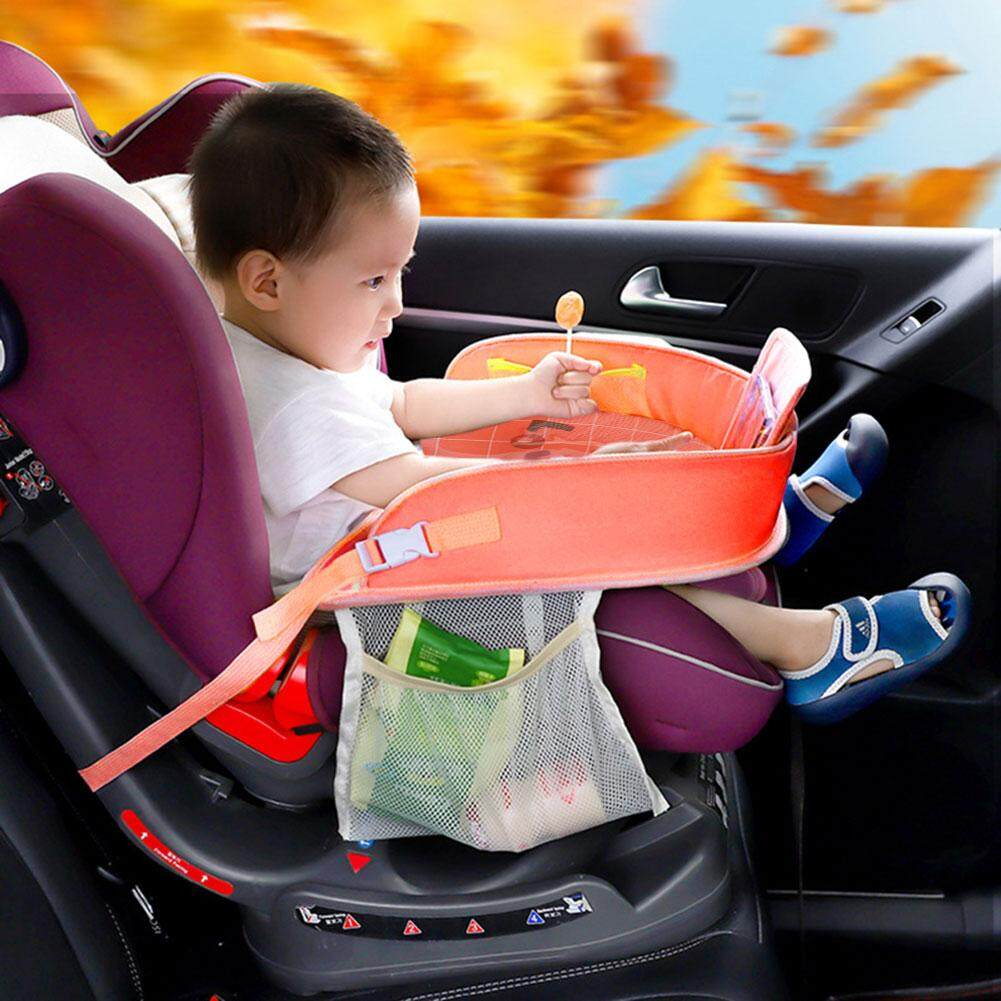 1PCS Multi-function Car Seat Tray In-car Accessories Baby Fence(color:yellow)