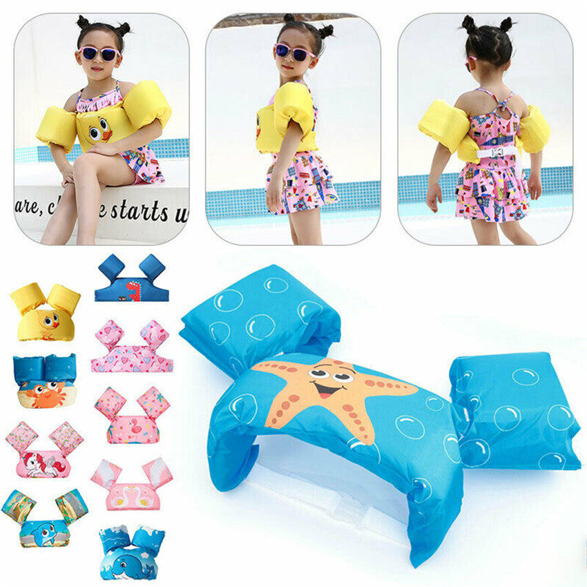 TTLIFE Baby Swim Toddler Arm Bands Float Swimming Ring Pool Infant Kid Life Jacket UK