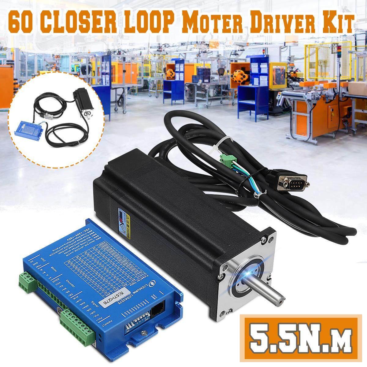 Baru 2 Fase 60 Loop Tertutup Motor Steper 5.5 N.m. Driver Kit Lcda257s + Lc60h2127 By Motorup